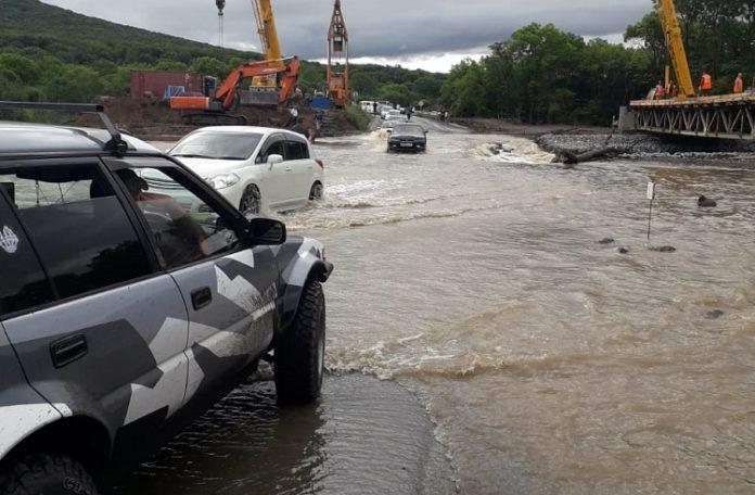 Река Лобога после удара тайфуна