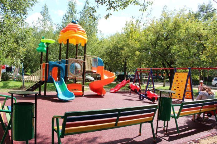Установка детских площадокк