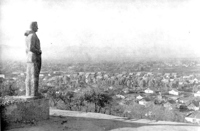 Вид города с памятника В.К.Арсеньеву, 70-е годы