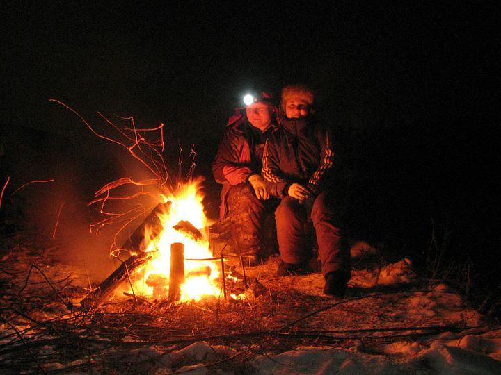 Зима, кедровка, костер...