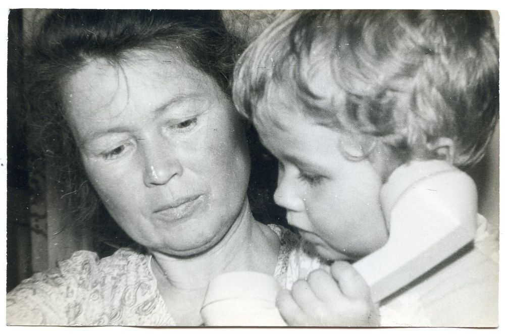 Лиля Аникина с внуком